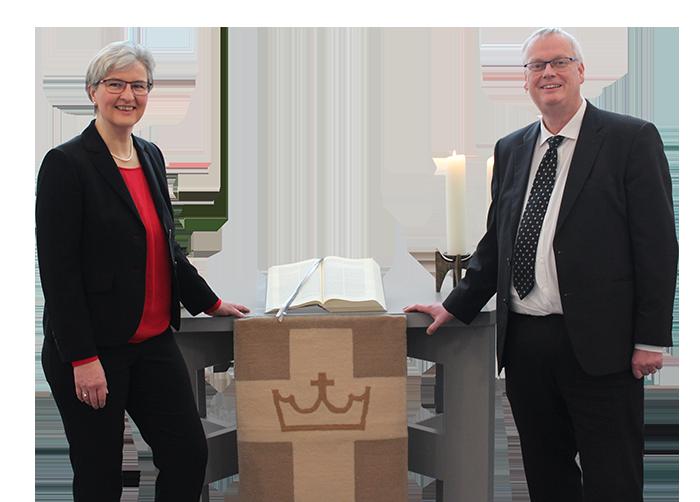 Pfarrerin Almuth Reihs-Vetter und Pfarrer Claus-Jürgen Reihs